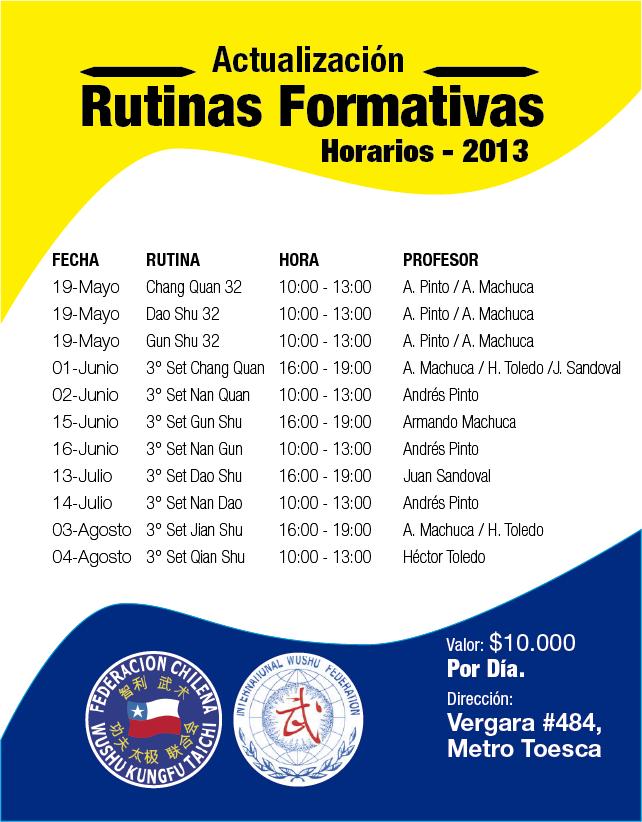 Horarios Rutinas